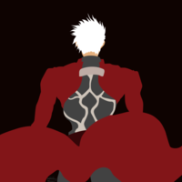 minimalist art  fate stay archer by nikkheeeeey dajbv0d